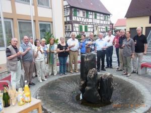 von links:  H.  Friedrich, J. Ghiraldin, R. Wagner, I. Rothenhöfer, E. Vogt, M.v.Racknitz, A. Schmezer, R. Rothehöfer, E. Hilbert, B. Göller,  F. Abel, Dr. L. Schubert, M. Schädler, H. E. Bucher, Y. v. Racknitz, R. Luthard, nicht auf dem Bild: Dr. P. Trunzer